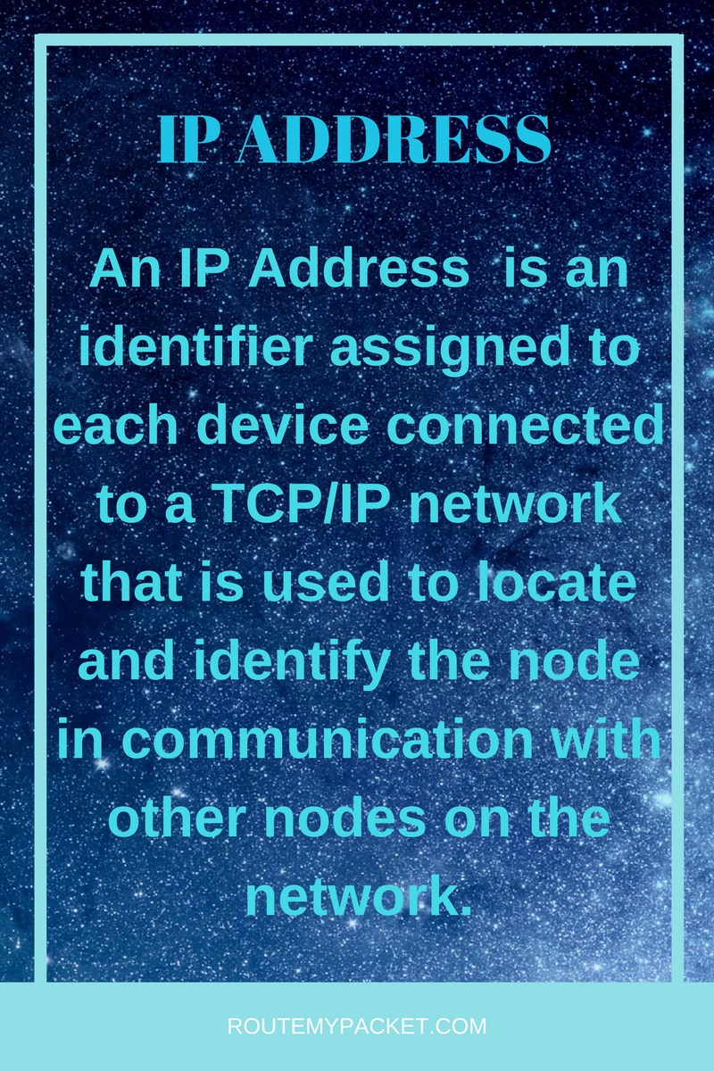Ip Address Explained In Simple Terms Learn More At Routemypacket