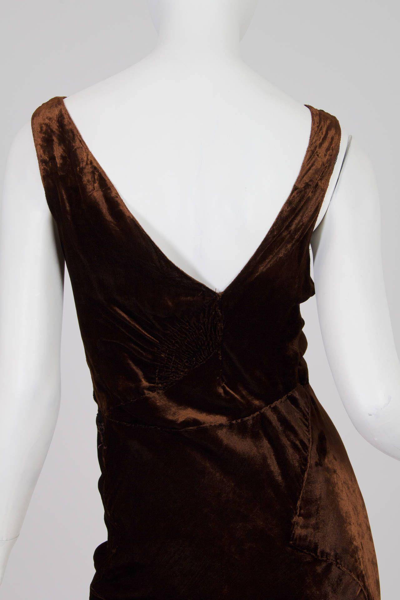 S bias cut silk velvet gown velvet gown s and gowns