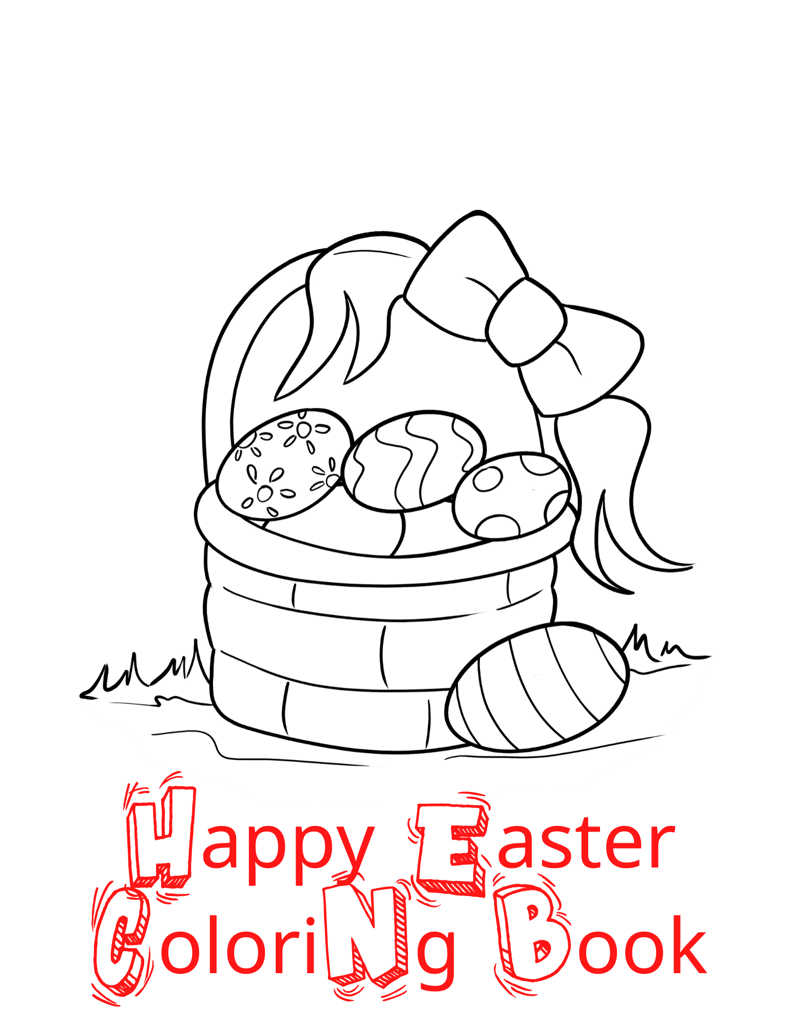 Easter Bunny Coloring Page For Kids Ages 1 4 Easter Bunny Eggs Christ Boys Girls And More Eastercoloringbook Eastergiftforkids In 2020