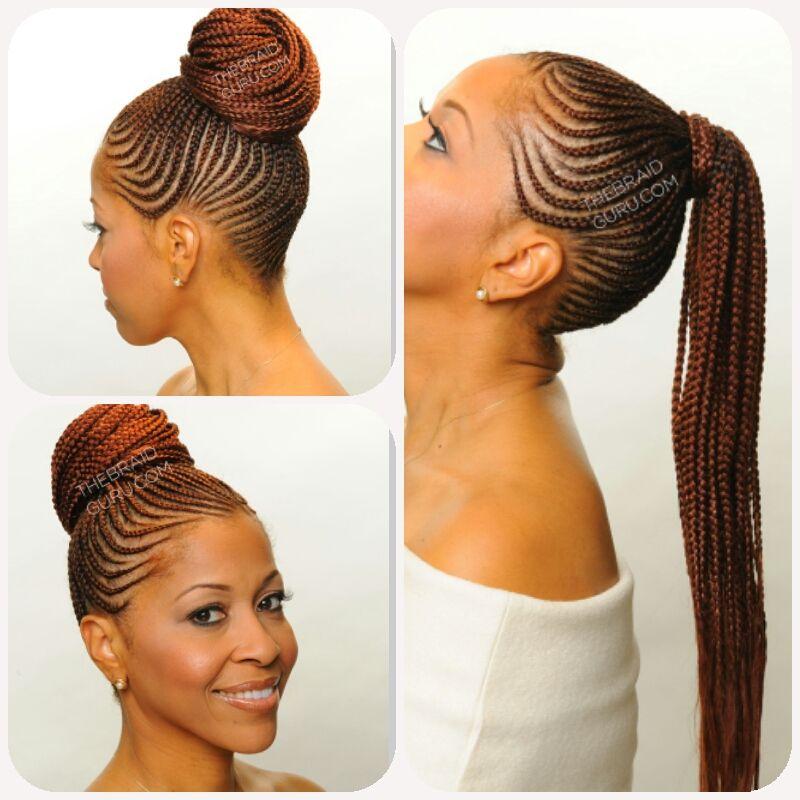 Straightup Plaiting Straight Up Hairstyles Braided Ponytail