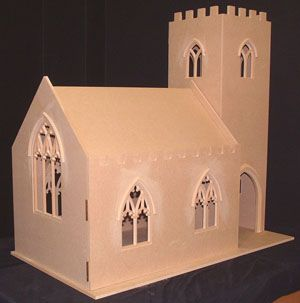 Como construir una capilla de miniatura miniatura como for Como pintar una casa