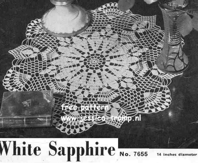 White Sapphire Doily Free Vintage Crochet Doilies Patterns Thread