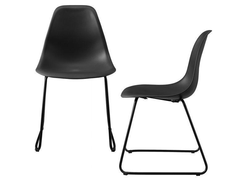 Https Www Conforama Fr Canape Salon Sejour Sejour Chaise 5ben Casa 5d C2 Ae Set De 2 Chaises De Designs Plastique Et Metal Noir Chaise Metal Noir Design