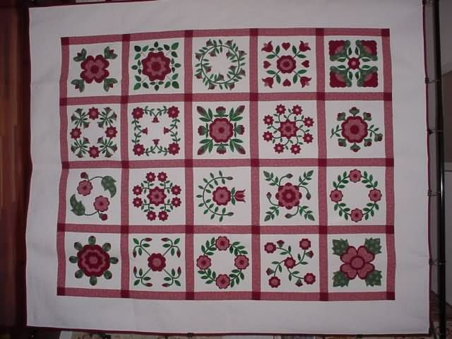 Rose of Sharon Quilt | Stitchingwitch.com | Pinterest : rose of sharon quilt - Adamdwight.com
