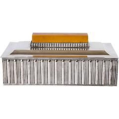 """Important Barbour Silver Co """"Special Line"""" Modernist Box by Albert Feinauer"""