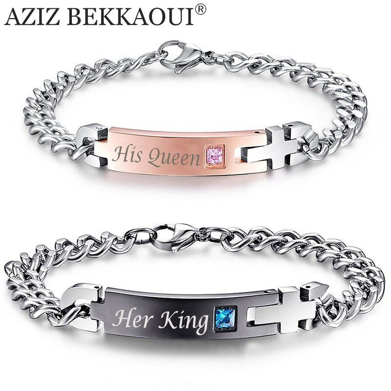 Unique Gift For Lover His Queen Her King Couple Bracelets Jewelry Get Yours