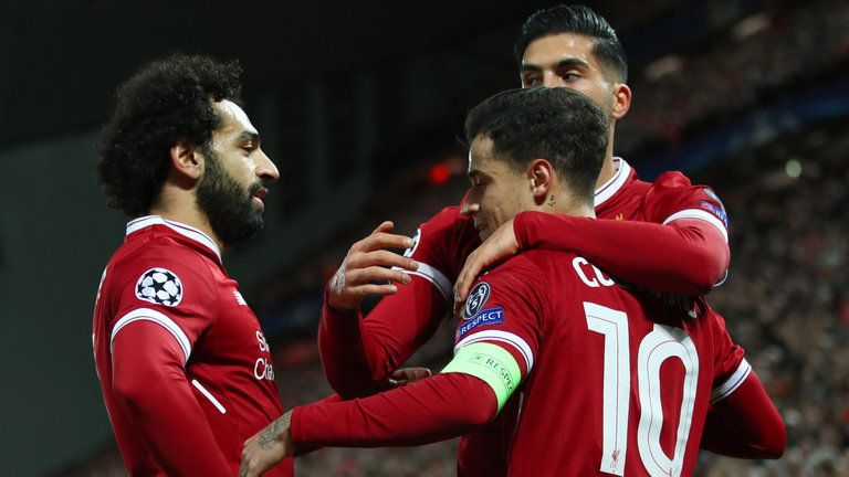 Liverpool 7 0 Spartak Moscow Philippe Coutinho Scores Hat Trick As Reds Secure Top Spot In Style Live Uefa Champions League Champions League Liverpool Soccer