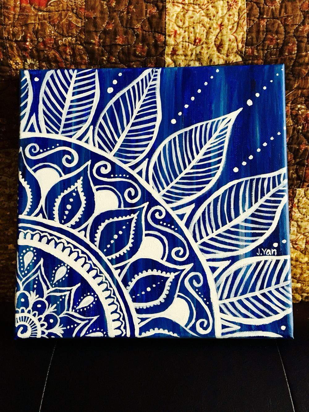 Mandala Acrylic Canvas Easy Canvas Painting Canvas Painting Diy Mandala Painting
