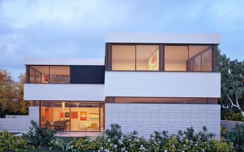 Neve Monosson House 3 3d Rendering Image Of A Single Family House Architect Daniel Arev House Family House House Styles