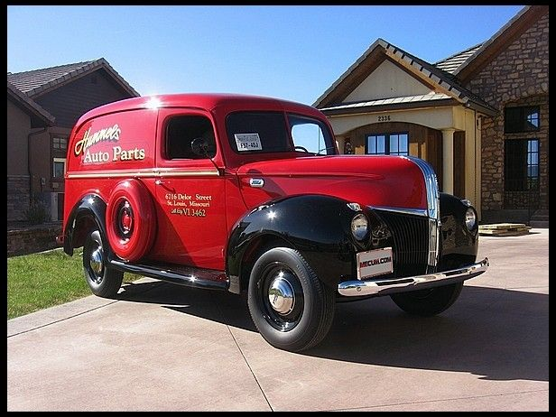 1941 Ford Panel Delivery Truck Mecumindy Trucks Classic Trucks Panel Truck
