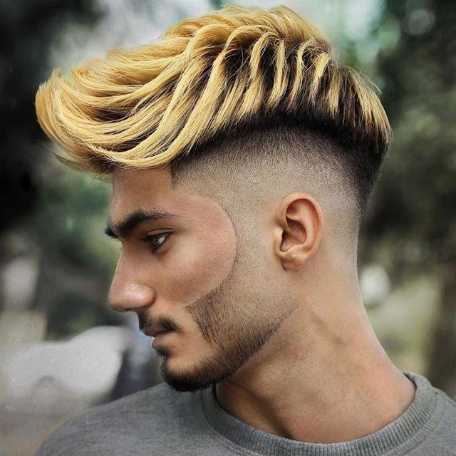 Männer frisur blonde strähnen
