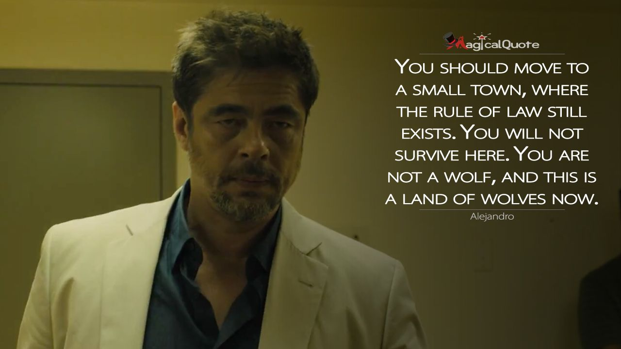 I Am The Law Movie Quote: Alejandro: You Should Move To A Small Town, Where The Rule