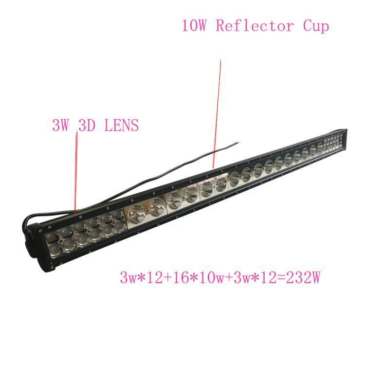 232w 48 Inch Cree Led Light Bar Combo Beam Led Bar Light For