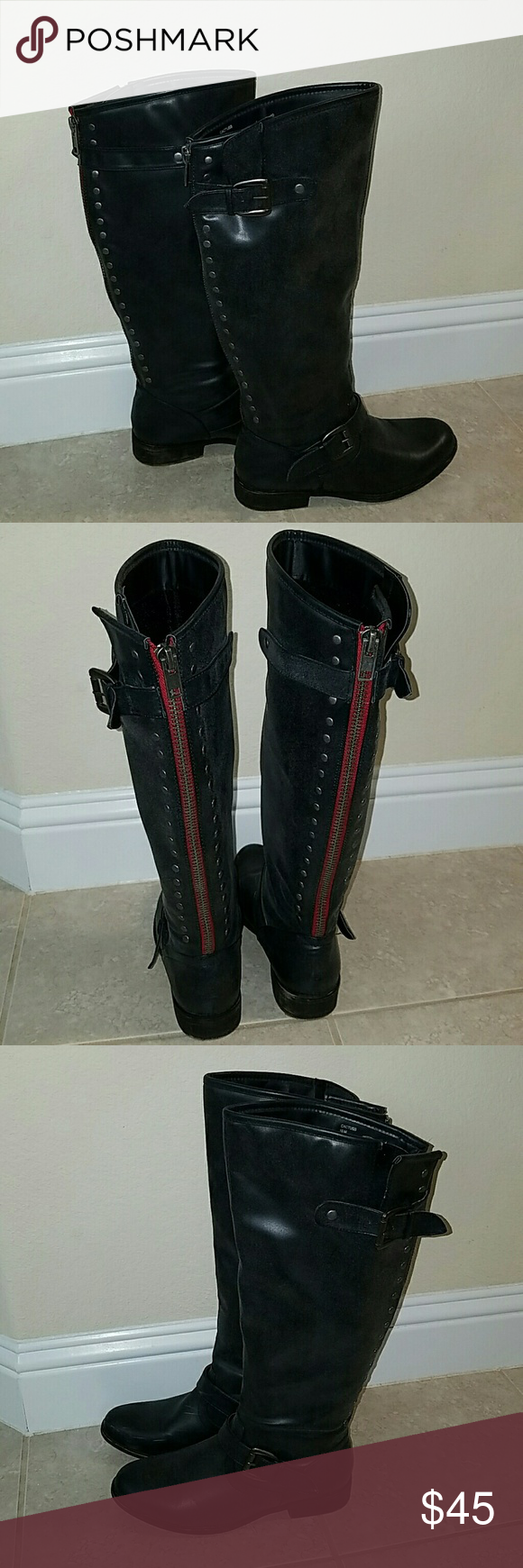 MADDEN GIRL TALL boots size 10 Used 5 times is a little  2 big  for me. Is a very comfortable  boots and also very warm. Perfect for the cold days that is on his way. Madden Girl Shoes Combat & Moto Boots