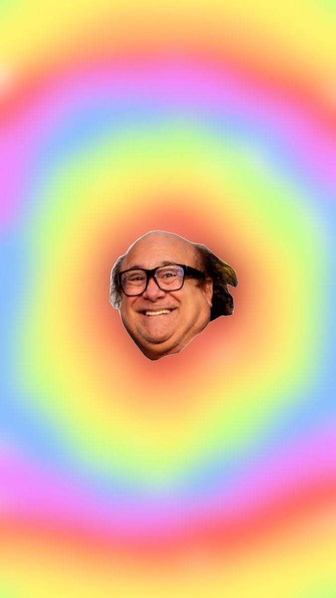 Danny Devito rainbow Meme wallpaper