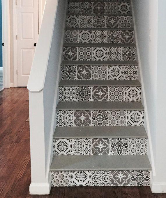Stair Riser Vinyl Strips Removable Sticker Peel & Stick for 15 steps