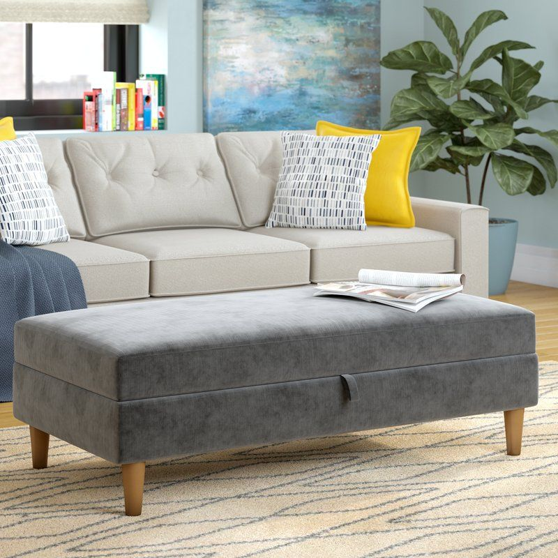Hephzibah Storage Ottoman Furniture Upholstered Storage Bench
