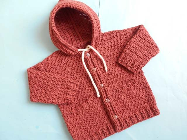 I love this Baby Jacket Cardigan and always crochet baby things ...