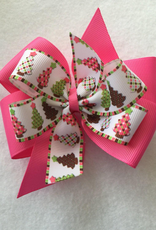 Christmas Tree Boutique Hair Bow Handmade hair bows