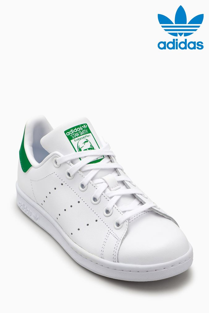 various colors 08ee6 7f253 Boys adidas Originals White/Green Stan Smith Youth - White ...