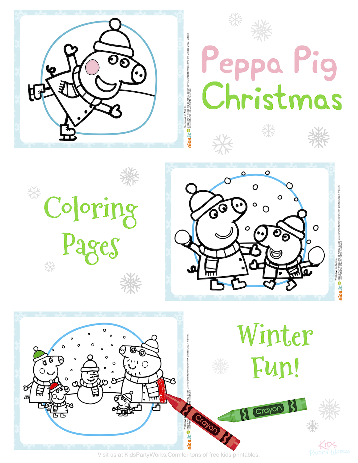 Peppa Pig Christmas Coloring Pages - Christmas Time is ...