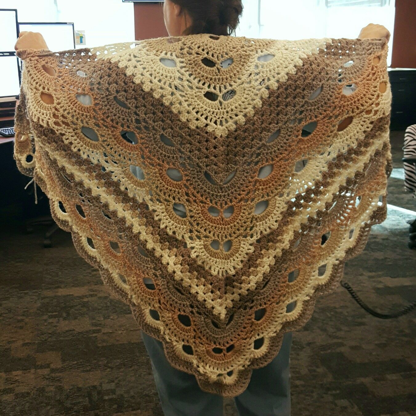 Virus Meets Granny Shawl. This pattern is a free Ravelry download ...