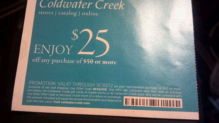 Coldwater Creek Coupons Promo Codes