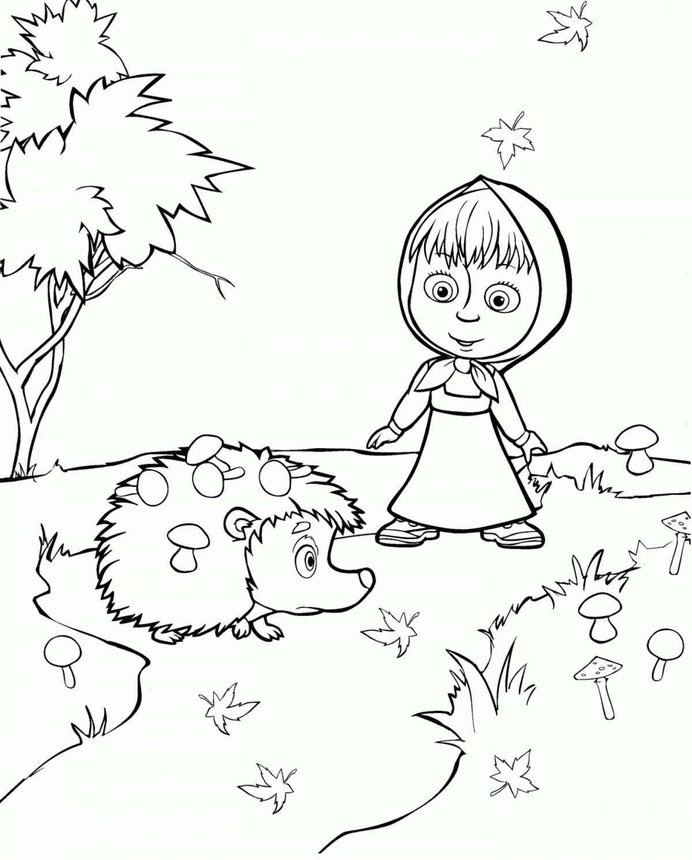 I disegni di Masha e Orso da colorare per bambini sono