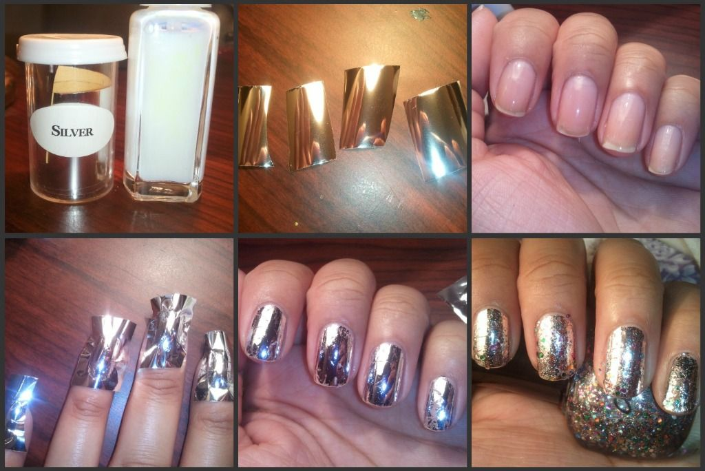 1. You can find nail foils & adhesive on eBay or Amazon. 2. Unravel ...