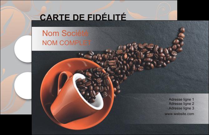 Carte De Visite Modele Et Exemple Cafe Bar Torrefacteur Torrefaction Tasse A