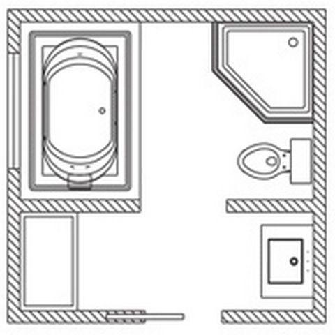 8x8 Bathroom Floor Plan With Shower Amusing 70 Bathroom Layout