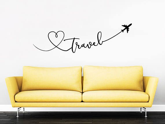 Travel Say Quote Travel Wall Decal Vinyl Stickers Decals Home Decor ...