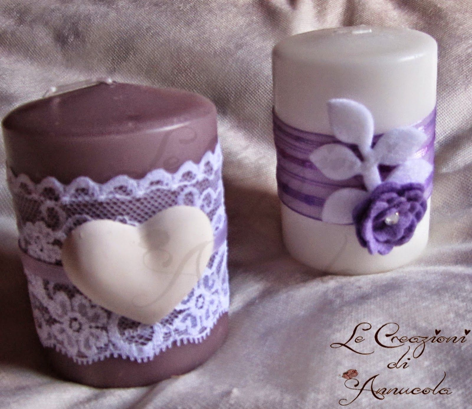 Candele Decorate: Christmas Candles