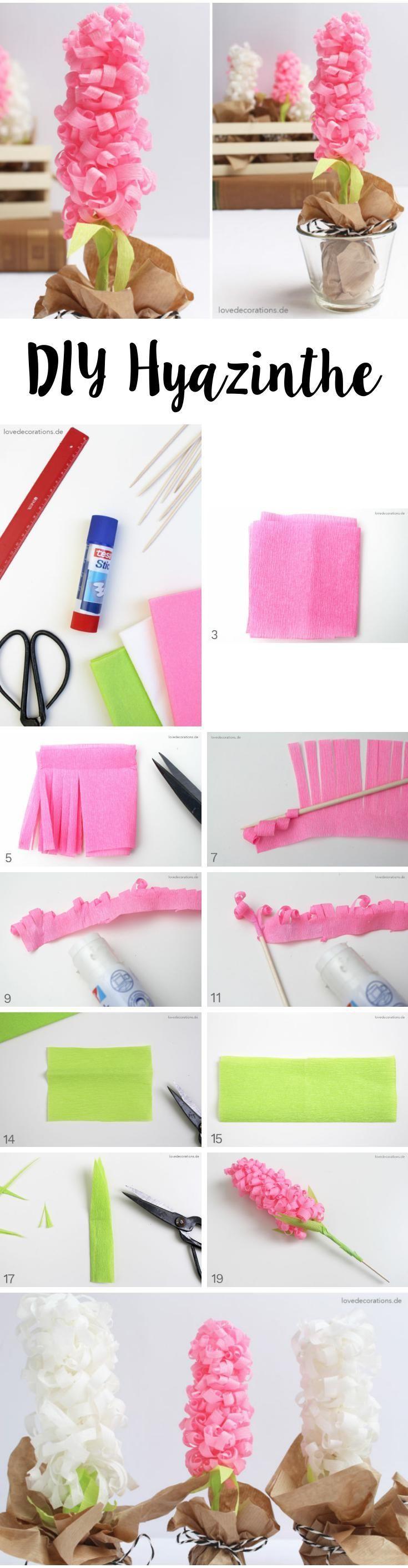 DIY Paper Hyacinth | DIY Hyazinthe Aus Krepppapier