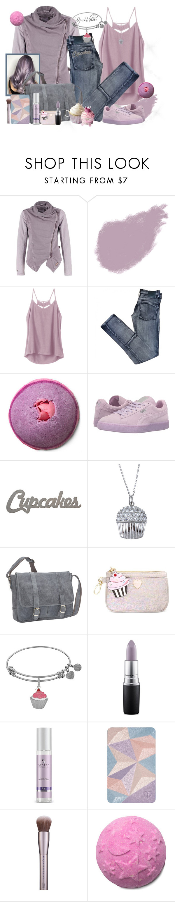 """Cupcakes party!"" by li-lilou ❤ liked on Polyvore featuring Bobbi Brown Cosmetics, RVCA, Cheap Monday, Puma, La Preciosa, David King & Co., Betsey Johnson, MAC Cosmetics, Wella and Clé de Peau Beauté"