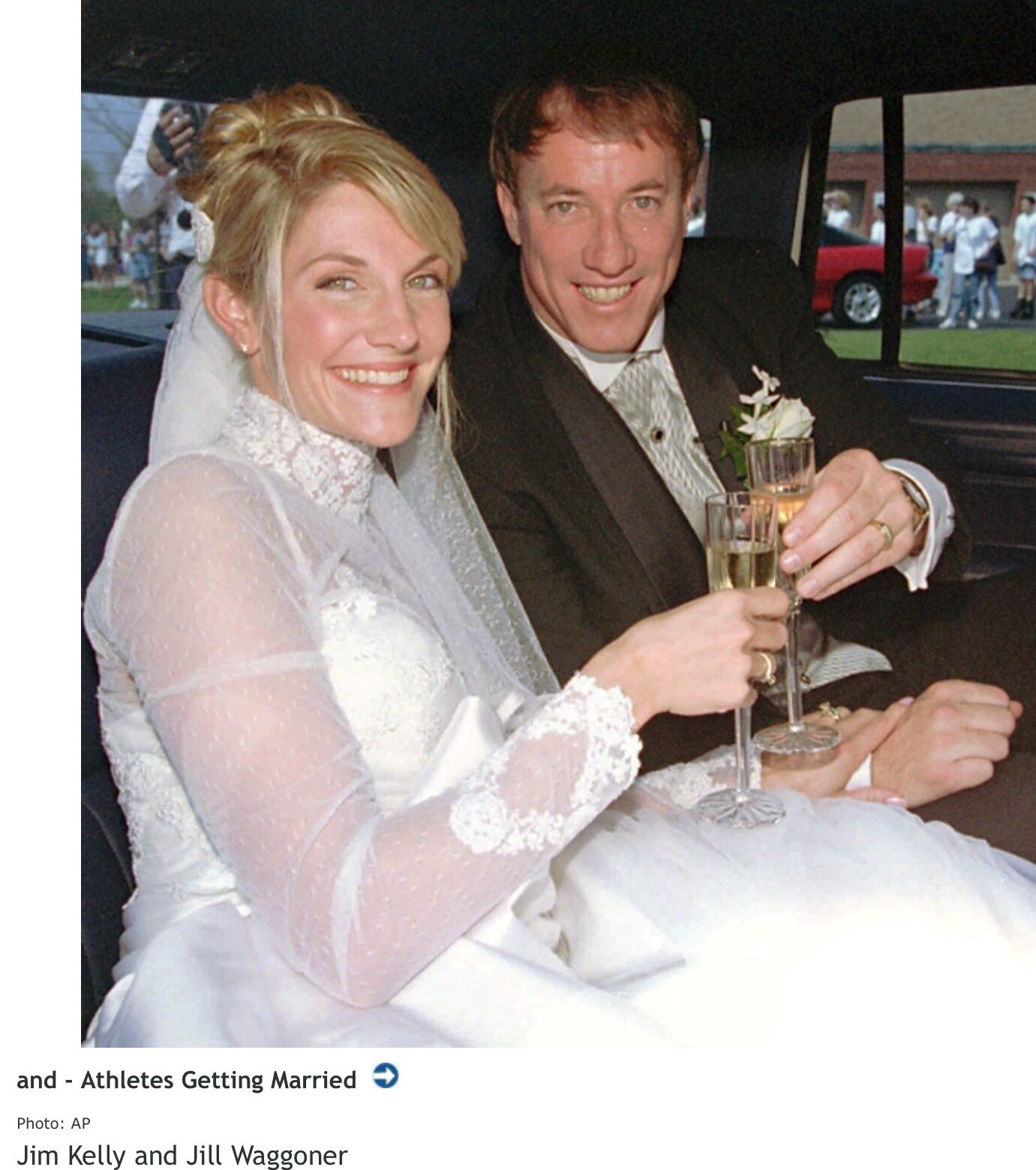 Tricia Nixon Wedding Gown: Jim Kelly And Jill Waggoner Wedding 1996