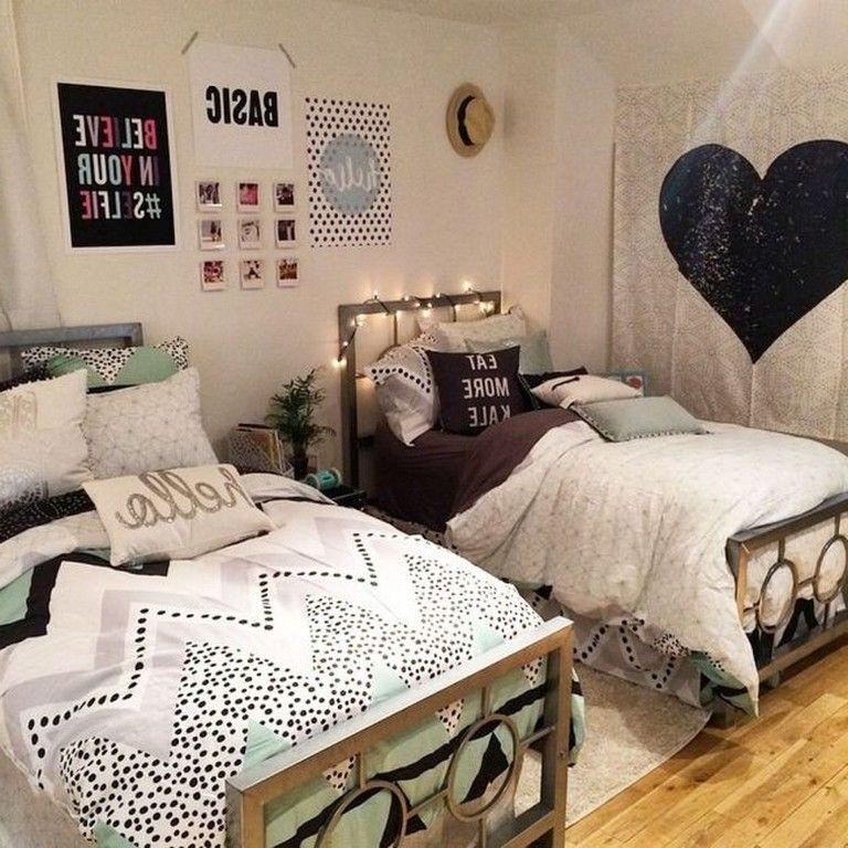 40 luxury dorm room decorating ideas on a budget bedroom room rh pinterest com
