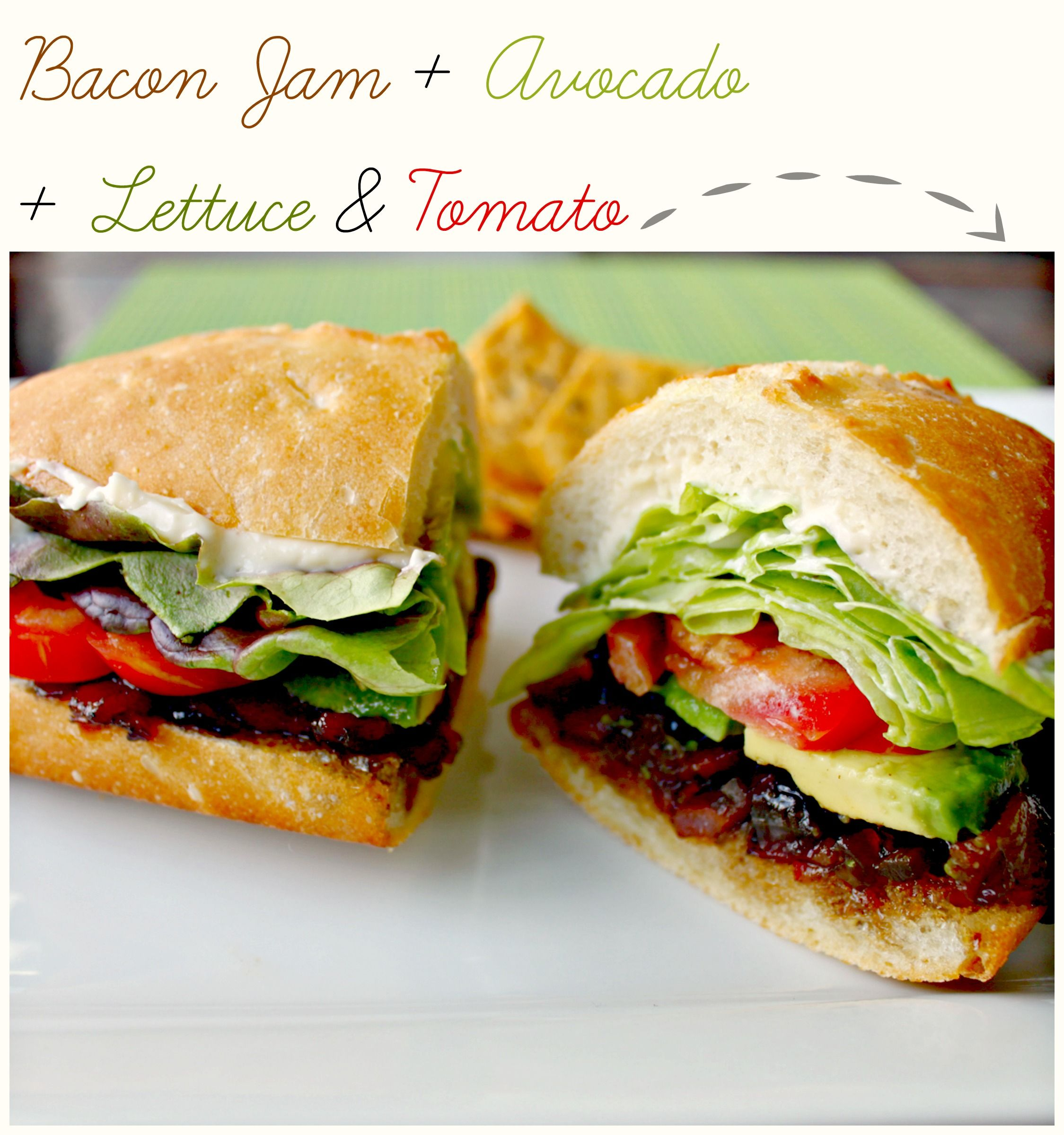 Bacon Jam, Avocado, Lettuce And Tomato Sandwich // # ...