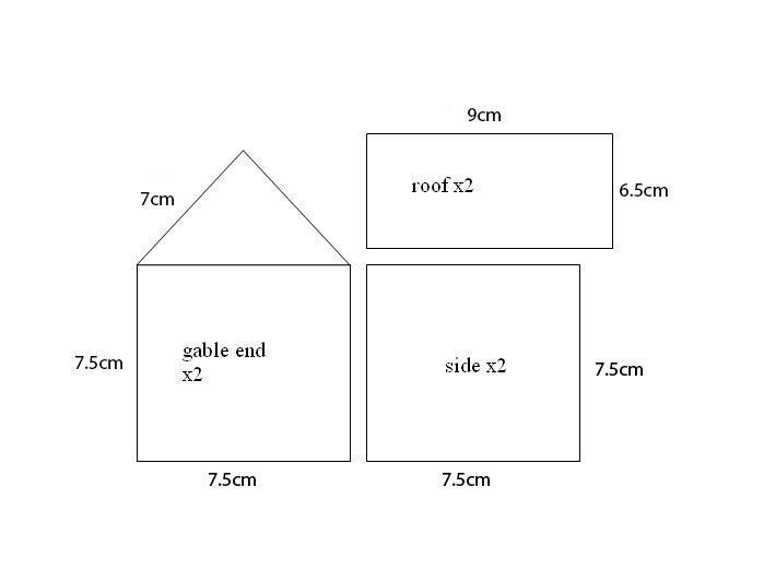 Small Gingerbread House Template It S The Most Wonderful Time