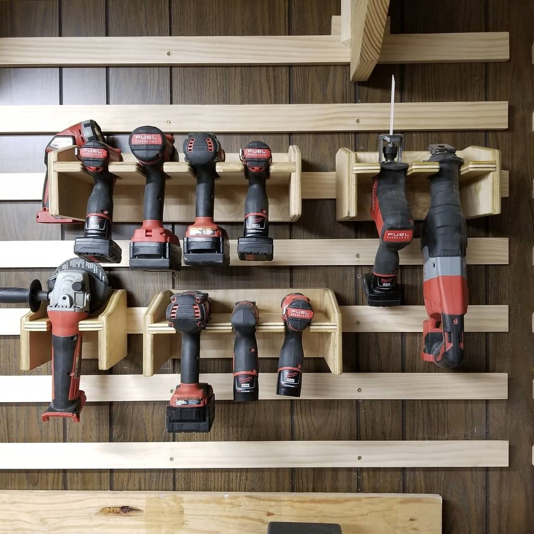 Milwaukee M18 M12 Fuel French Cleat Plywood Rack In 2019