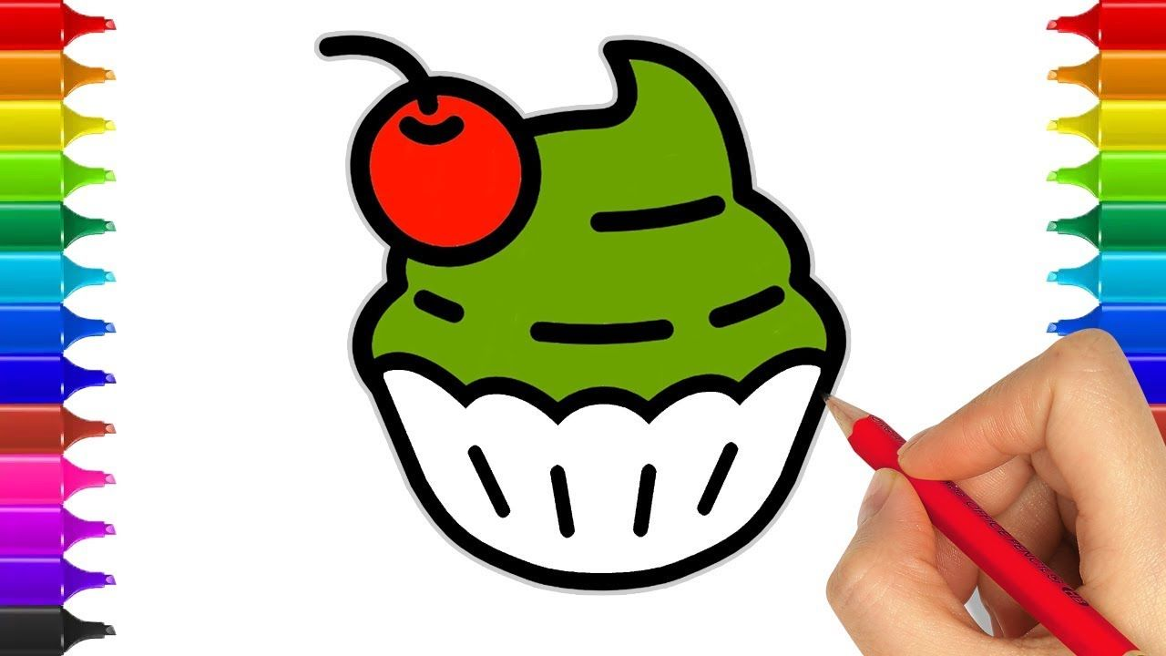 How To Draw Cake | Coloring Cake Coloring Pages | Learn Colors for ...