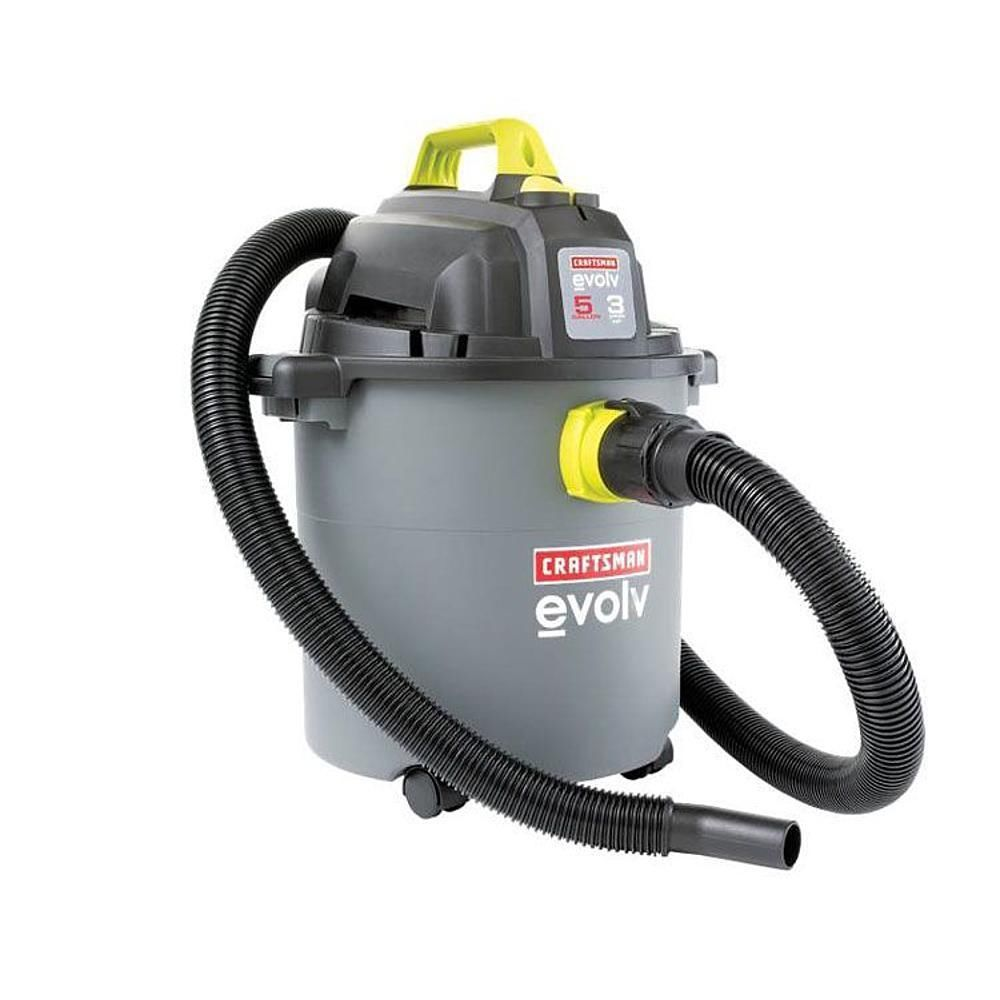 Portable Wet Dry Vacuum Utility Water Cleaner 5 Gallon 3 Peak Car Shop Damage Wet Dry Vac Wet Dry Vacuum Utility Water