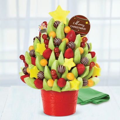 Say Merry Christmas This Holiday Season With Our Festive Merry Christmas Bouquet Edible Arrangements Fruit Basket Gift Edible Fruit Arrangements