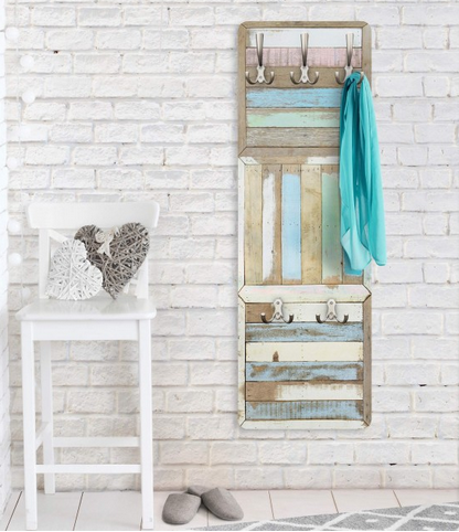 Wandgarderobe #garderobe #maritim#bad #ideen #gestaltung ... Ideen Gestaltung Badezimmer