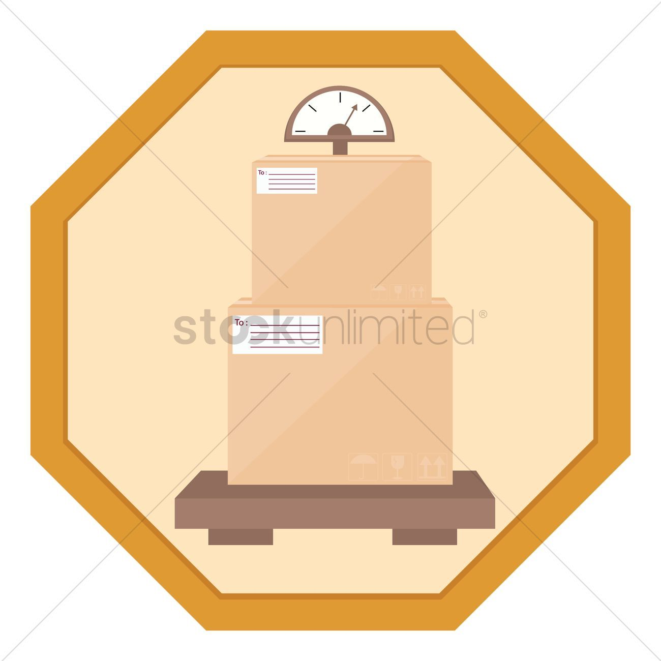 Box on weighing machine vectors stock clipart