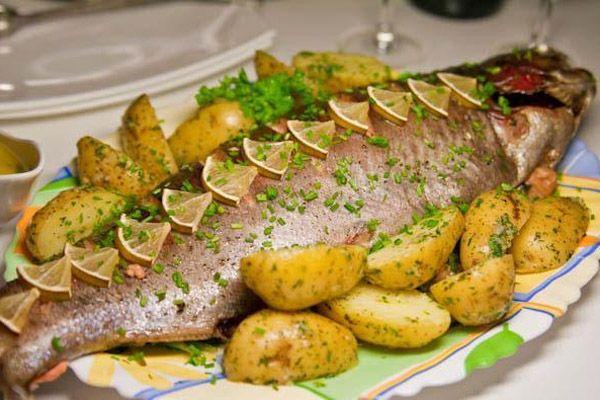 Картинки по запросу рыба, приготовленная в духовке