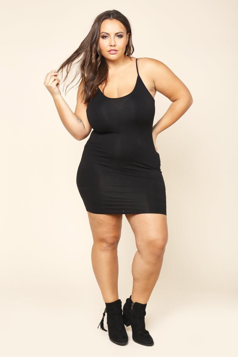 Plus Size Triangle Back Cami Dress Dresses GS LOVE