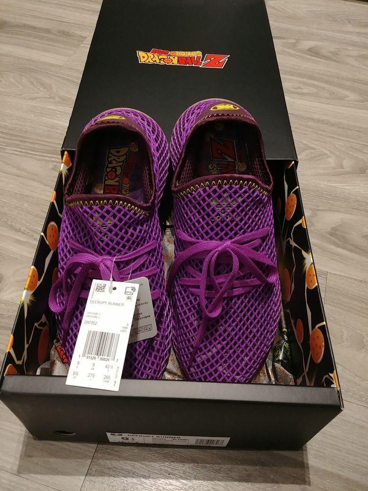 32c0c6654e02 Adidas Dragon Ball Z DBZ Son Gohan Deerupt D97052 Size 9.5 Limited Sold Out