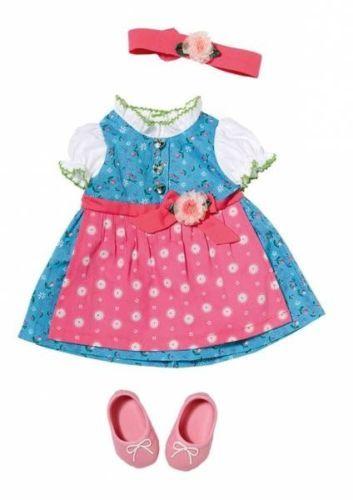 Zapf Creation Baby Born Dirndl Kleid Puppenkleidung Puppe Kleidung Neu Puppenkleidung Kinder Kleidung Modestil