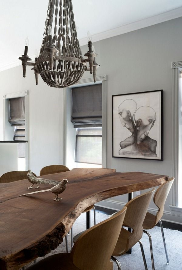 Solid Wood Furniture Ideas The Log Dining Table Eclectic